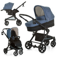 Kinderwagen-Set Atlantic Plus Trio Set - Melange Jeans Caviar