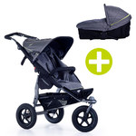 TFK 2-1 Kombi-Kinderwagen-Set Joggster Adventure 2 & Babywanne Multi X - Quiet Shade