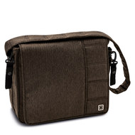 Wickeltasche City Line Messenger Bag - Brown Fishbone