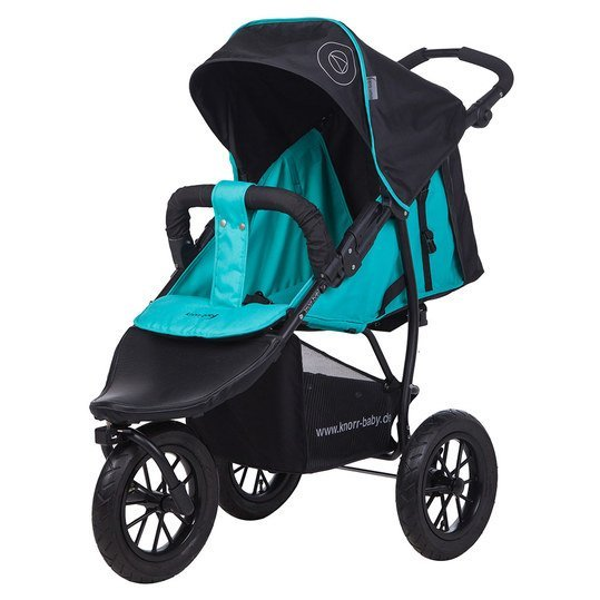 Sportwagen Joggy S mit Schlummerverdeck - Happy Color - Blau