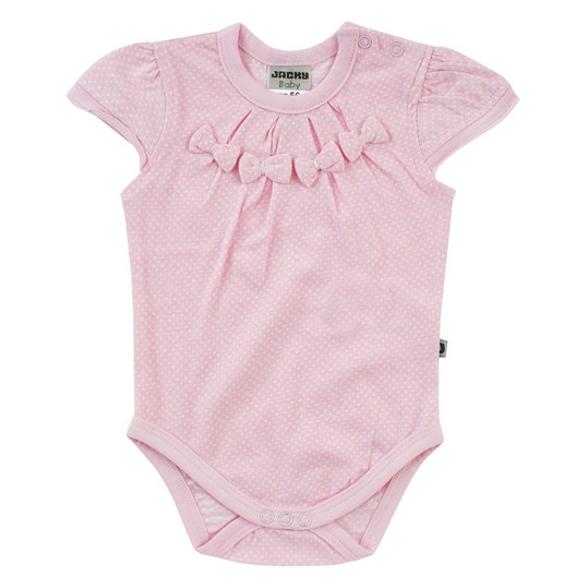 Body Kurzarm Hearts - Punkte Rosa - Gr. 50