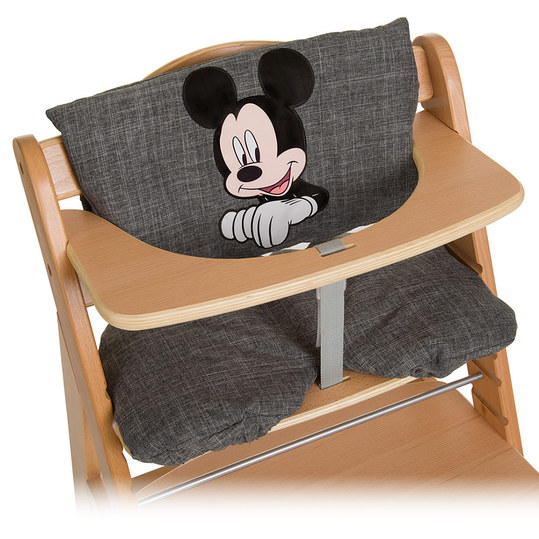 hauck hochstuhlauflage sitzverkleinerer disney deluxe mickey grey. Black Bedroom Furniture Sets. Home Design Ideas