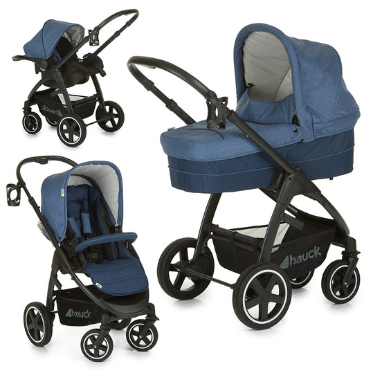 Kinderwagen-Set Soul Plus Trio Set - Melange Navy