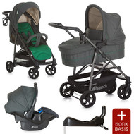 Kinderwagen-Set Rapid 4S Trio Set inkl. Isofix Basis - Caviar Emerald
