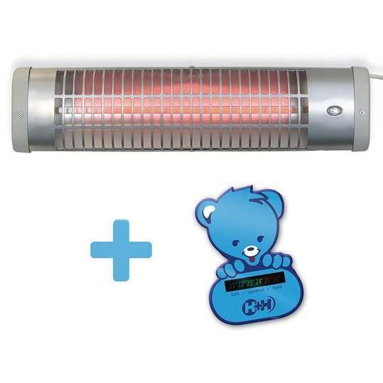 Wrapped radiant heater BS 57 with foil thermometer