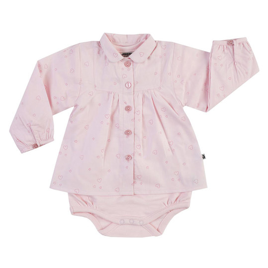 2-tlg. Set Body + Bluse - Little Swan Rosa - Gr. 62
