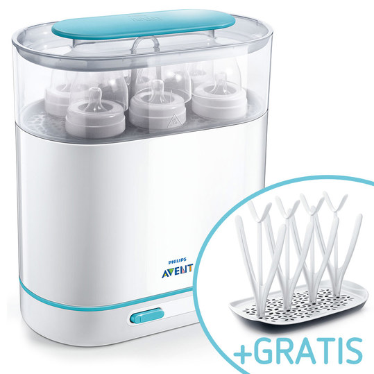 Steam sterilizer 3 in 1 - SCF285/02 + free drip rack