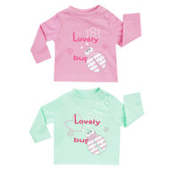 Langarmshirt 2er Pack - Lovely Bug Rosa Mint