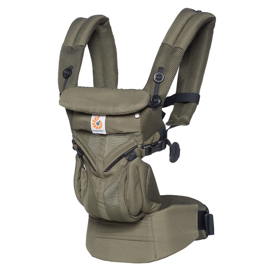 360° Omni Cool Air Mesh baby carrier for 4 carrying positions - Khaki Green