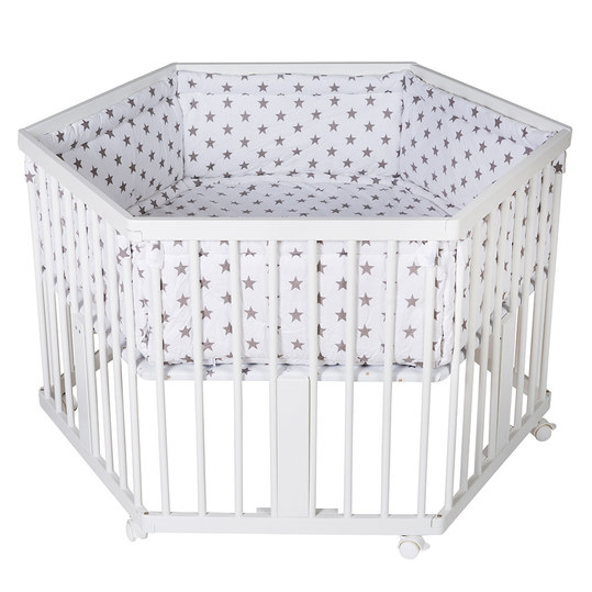 playpen 6-sided solitaire white incl. inlay - star - grey