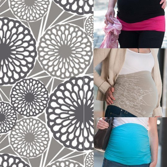 Bauchband Bellyband Ruffled - Flower Shadow