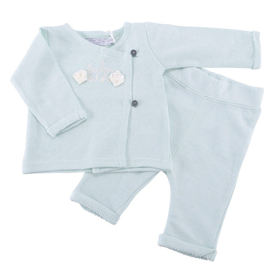 2-tlg. Set Wickelshirt + Hose - Mint - Gr. 68