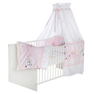 Complete bed Classic-Line White 70 x 140 cm - Birdy - Pink