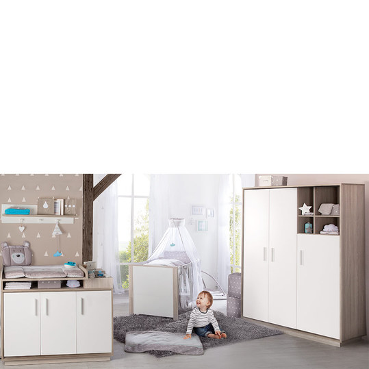 roba kinderzimmer olaf mit 3 t rigem schrank bett wickelkommode. Black Bedroom Furniture Sets. Home Design Ideas