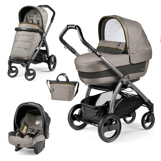 Kinderwagen-Set Book S Elite Completo Modular Gestell Jet Anthrazit - Luxe Grey