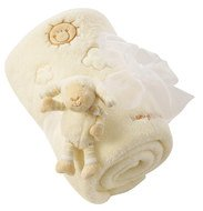 2-pcs. set cuddly blanket Baby Love + sheep grasping toy 75 x 100 cm