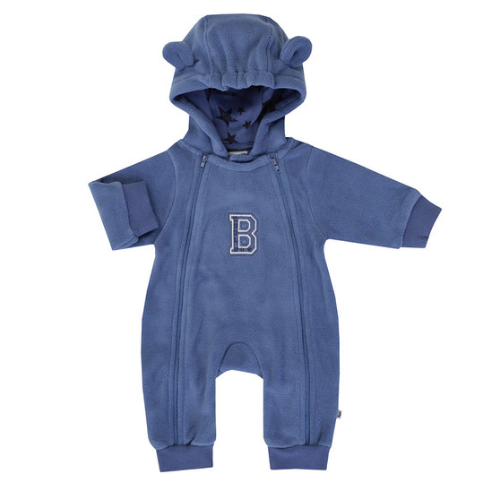 Fleece-Overall mit Kapuze Cool Boy - Blau - Gr. 68