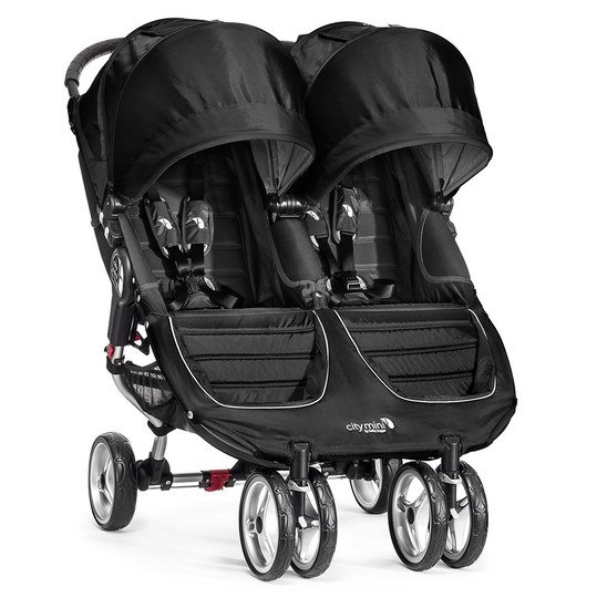 Geschwisterwagen City Mini Double - Black
