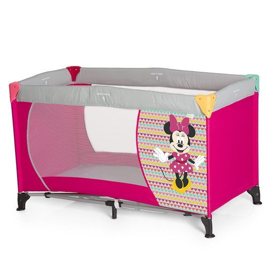 Reisebett Dream'n Play - Disney - Minnie Geo Pink
