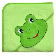 Hooded bath towel 80 x 80 cm - Frog Lime