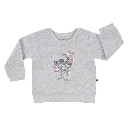Sweatshirt Basic Line - Girls - Grau Melange - Gr. 74