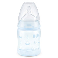PP-Flasche First Choice Plus 150 ml - Silikon Gr. 1 M - Baby Blue