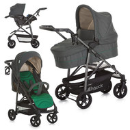 Kinderwagen-Set Rapid 4S Plus Trioset Deluxe - Caviar Emerald