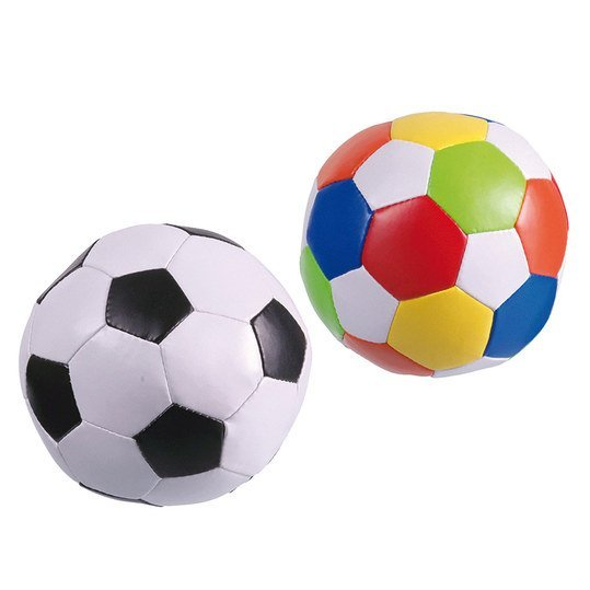 Softball-Set 2er Pack Football 10 cm - Black-White and Colourful