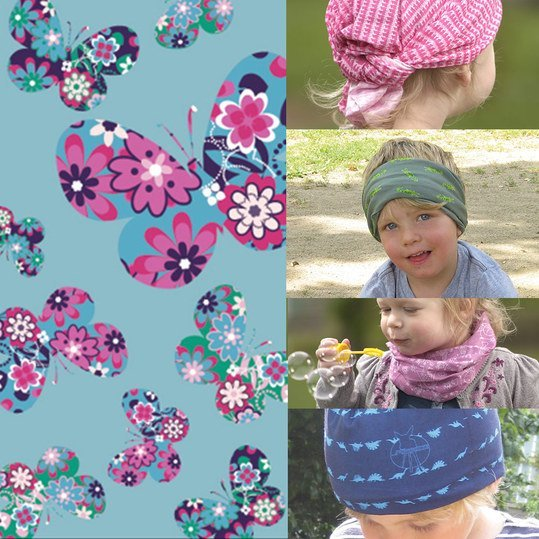 Multifunktionstuch Twister Baby - Spring Butterfly