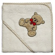 Hooded bath towel 80 x 80 cm - Teddy Natur