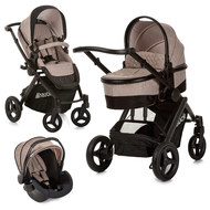 Kinderwagen-Set Maxan 4 Plus Trio Set - Melange Sand