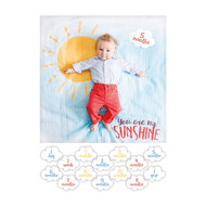 Baby-Meilenstein-Decke inkl. Kartenset - You are my sunshine