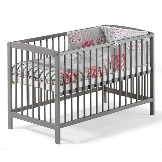 schardt kinderbett felix kiefer massiv 60 x 120 cm nordic grey. Black Bedroom Furniture Sets. Home Design Ideas