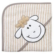 Hooded bath towel 80 x 80 cm - Sheep Beige