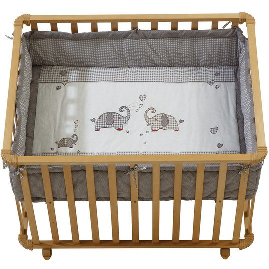 Playpen natural incl. insert 75 x 100 cm - Jumbotwins