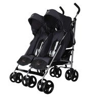 Geschwisterbuggy Twister - Anthrazit Milk White