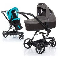 Kombi-Kinderwagen 3 Tec PLUS - Coral inkl. Tragewanne PLUS Black Cloud