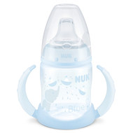 PP-Trinklernflasche First Choice 150 ml - Silikon-Trinktülle - Baby Blue