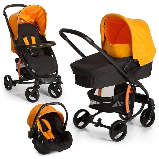 Kinderwagen-Set Miami 4S Trio Set - Caviar Orange