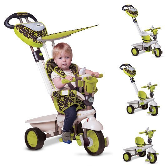 Dreirad Dream 4 in 1 mit Touch Steering - Green