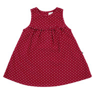 Kleid Cord - Punkte Rot - Gr. 74