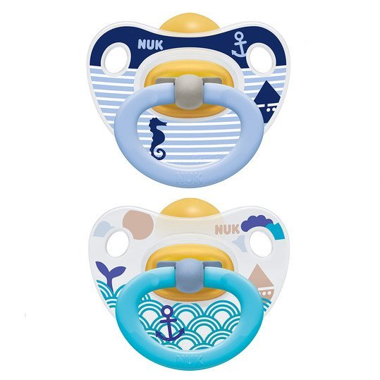 Schnuller 2er Pack Happy Kids - Latex 6-18 M - Blau