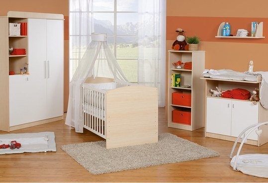 roba kinderzimmer lena mit 3 t rigem schrank ahorn. Black Bedroom Furniture Sets. Home Design Ideas