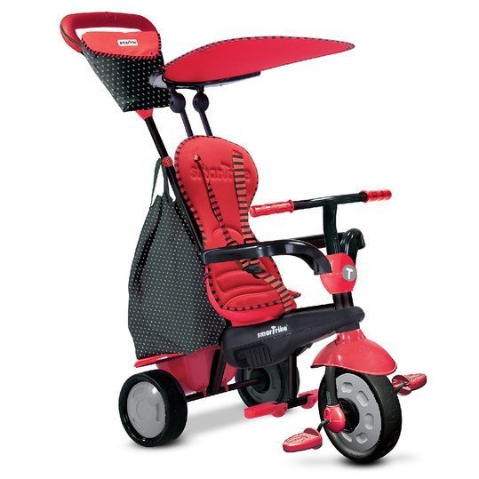 Dreirad Glow 4 in 1 mit Touch Steering - Red