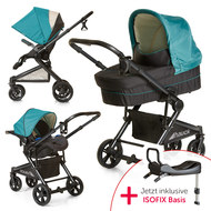 Kinderwagen-Set Atlantic Plus Trio Set inkl. Isofix Basis - Everglade