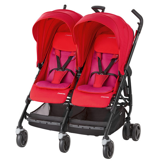 Geschwisterwagen Dana for 2 - Red Orchid