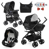 Kinderwagenset Trio-System Sprint Black mit Kit Car - Black Night