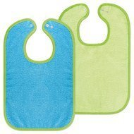 Set of 2 giant bibs with press studs - Ocean Lime