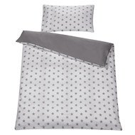 Reversible bed linen 100 x 135 cm - Big Stars Grey