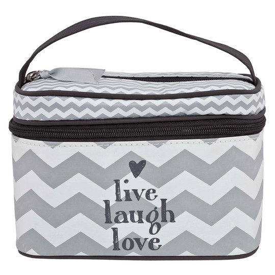 Baby-Beautycase - Chevron Grey